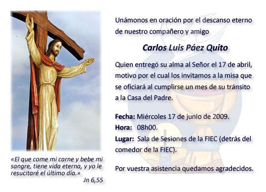 Tarjetas Para Misa De Difuntos